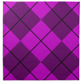 Violetta purpurfärgade Argyle Tygservett