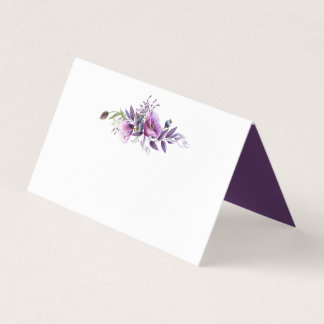 Violetta purpurfärgade kort för placeringskort