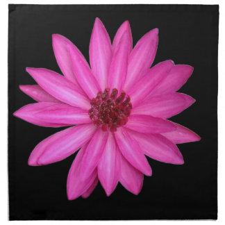 Violetta purpurfärgade rosa servetter för lotusblo