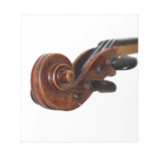 Violin Scroll Anteckningsblock