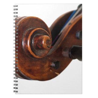 Violin Scroll Anteckningsbok