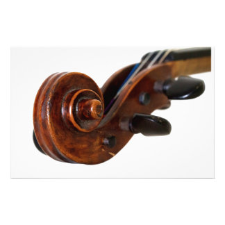 Violin Scroll Brevpapper
