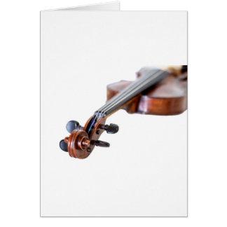 Violin scroll hälsningskort