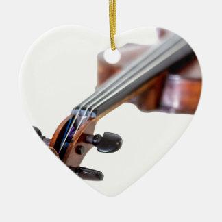 Violin scroll julgransprydnad keramik
