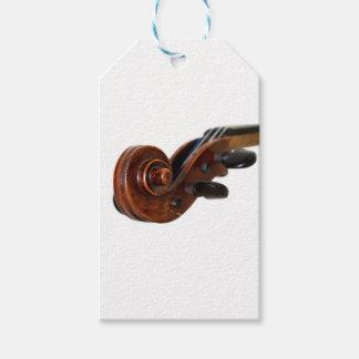 Violin Scroll Presentetikett