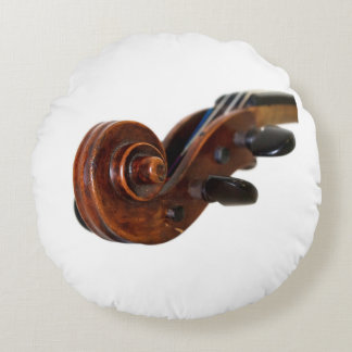 Violin Scroll Rund Kudde