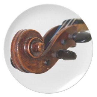 Violin Scroll Tallrik