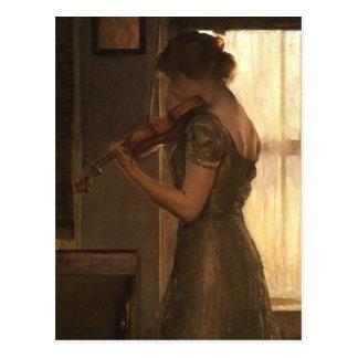 Violinist Vykort
