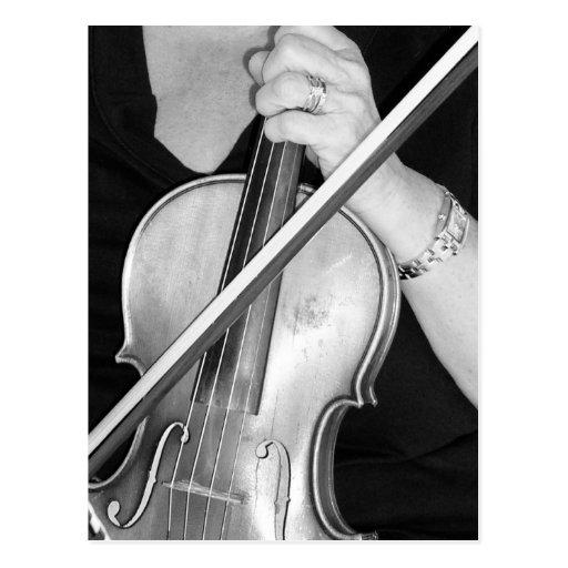 Violinisten på vilar vykort