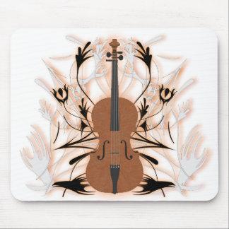 Violoncell & stam- konstverk: Beställnings- Mousep Musmatta
