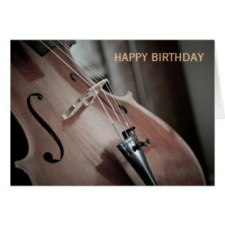 Violoncellklassisk musik instrumenterar födelsedag hälsningskort