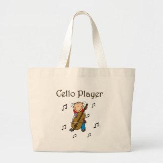 VioloncellspelareTshirts och gåvor Tote Bag