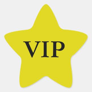 Vip-stjärnaklistermärkear Stjärnformat Klistermärke
