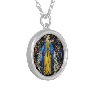 Virgen Milagrosa silver pläterat halsband
