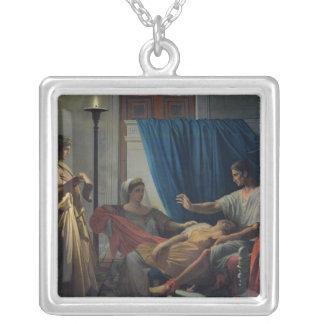 Virgil läsning Aeneiden Silverpläterat Halsband