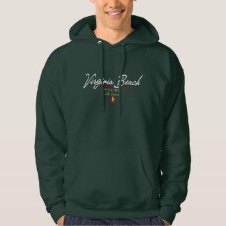 Virginia Beach skrivar Sweatshirt Med Luva