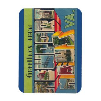 Virginia Newport nyheternamagnet Magnet