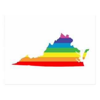 virginia regnbåge vykort