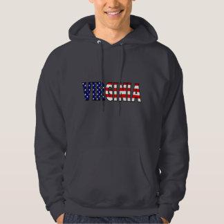 Virginia skjorta sweatshirt med luva