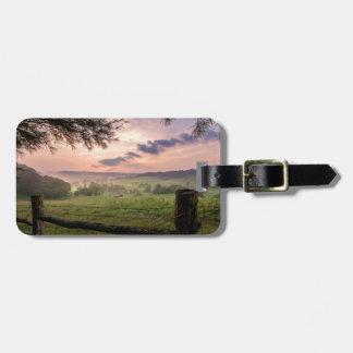 Virginia solnedgång bagagebricka