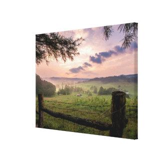 Virginia solnedgång canvastryck