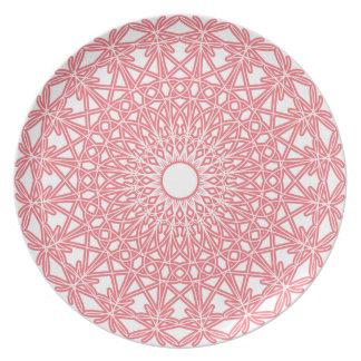 Virkat snöre för bubbelgum pläterar rosor tallrik