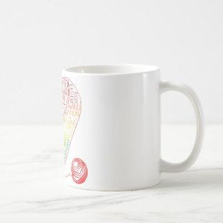 Virkningordmugg (färg) kaffemugg