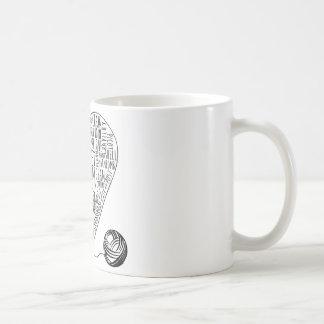 Virkningordmugg Kaffemugg
