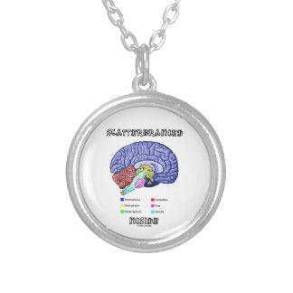 Virrig insida (hjärnhumorn) silverpläterat halsband