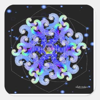 Virvel av vitaliteten fyrkantigt klistermärke