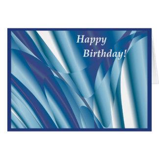 Virvla runt det abstrakt födelsedagkortet för hälsningskort