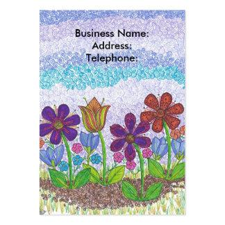 Virvla runt floror som affären profilerar kortet set av breda visitkort
