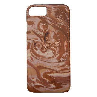 Virvlar runt av choklad