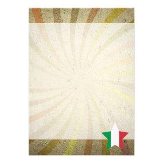 Virvlar runt den italienska flagga för vintage 12,7 x 17,8 cm inbjudningskort