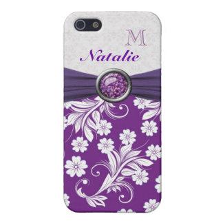 Virvlar runt den purpurfärgade vitblommigten för M iPhone 5 Skydd