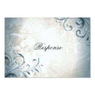 Virvlar runt elegant vintagelövverk för bröllopet 8,9 x 12,7 cm inbjudningskort