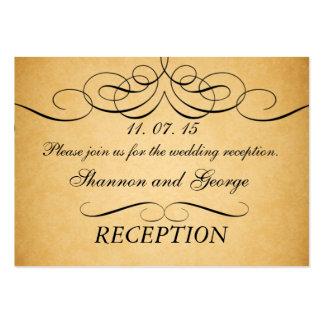 Virvlar runt kortet för bilagan för vintage bröllo visit kort