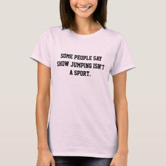 Visa banhoppningidrottsmannen t-shirt