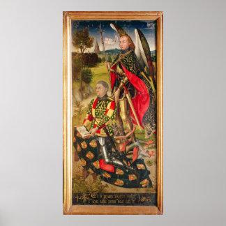 Visa oljedoseringen av altarpiecen, Michel de Poster