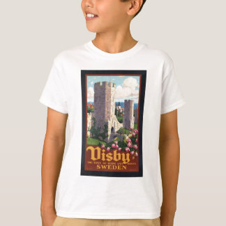 Visby sverige - vintage resor t-shirt