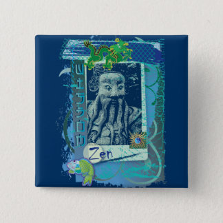 Vishetblått Standard Kanpp Fyrkantig 5.1 Cm