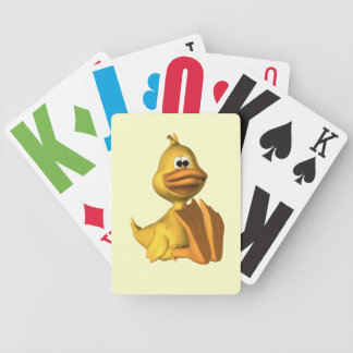 Vision försämrad anka som leker kort spelkort