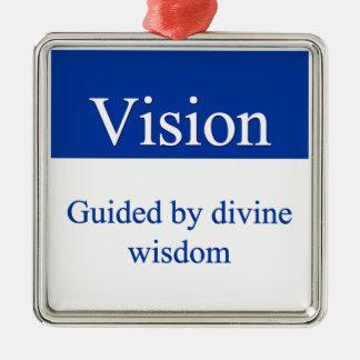 Vision - som vägledas av gudomlig vishet julgransprydnad metall