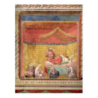 Visionen av Pope Gregory IX 1297-99 Vykort