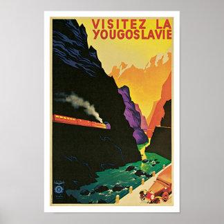 Visitez La Yougoslavie Poster