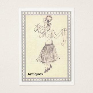 Visitkort för 50-tal    för klaffflicka Retro