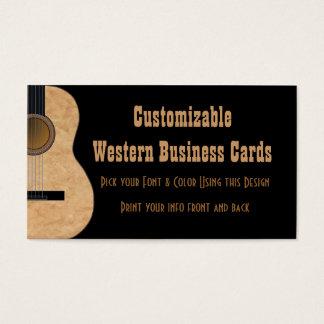 Visitkort för anpassadegitarrmusik
