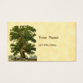 Visitkort för anpassningsbar för vintageOakträd