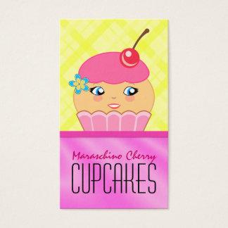 Visitkort för bageri för rosa- och visitkort