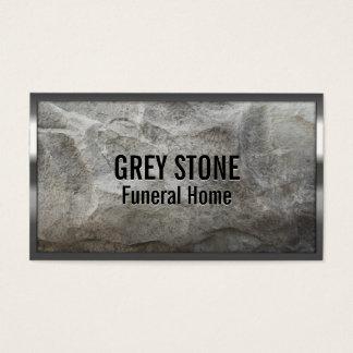 Visitkort för begravningsbyrå för sten för